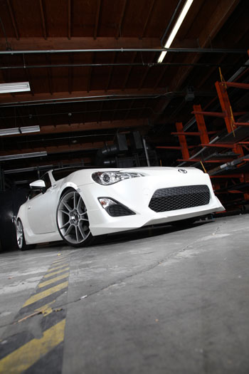 Another shot of Young Tea's Scion FR-S in the AEM warehouse