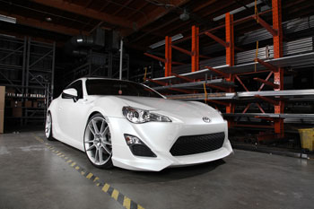 Young Tea brought his Scion FR-S to AEM for photo-shoot