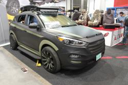 Hyundai Tucson with AEM intake at 2016 SEMA show
