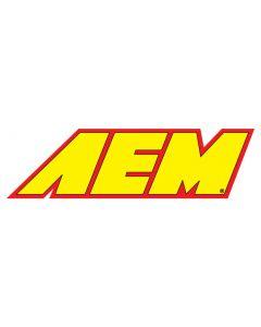 "10-953 AEM Decal; AEM Yellow W/Red Border 5-1/2 "" X 1-1/2"""