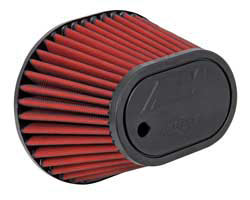 AEM air filter 21-2148D-HK has a hole molded into the air filter top for the 2015 Ford Mustang Ecoboost IAT sensor