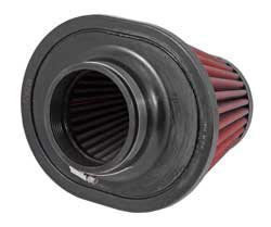 The bases of 21-2148DK and 21-2148D-HK AEM Dryflow air filters incorporate a flange