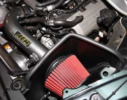 If purchased as a spare air filter for an AEM 2015 Ford Mustang air intake this clamp-on Dryflow air filter is covered by a lifetime limited warranty
