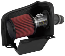 The AEM 21-804C air intake offers an estimated boost of 7-horsepower.