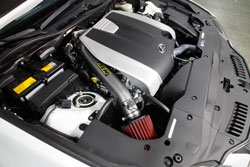 The AEM 21-806C Intake has an air filter, aluminum tube, heat shield and stainless steel clamps.