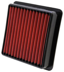 An AEM replacement air filter increases performance & efficiency of a 2008-2014 Subaru WRX/WRX S
