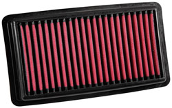 An AEM 28-50041 DryFlow Air Filter will improve performance by eliminating airflow restrictions
