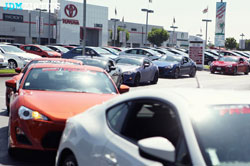 The Tour of L.A. started at Longo Toyota and was organized by FRS 86 and Young Tea