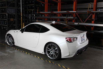 Young Tea's Scion FR-S sports FIVE:AD body kit and wheels