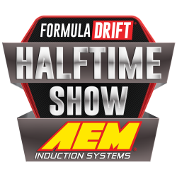 Formula Drift AEM induction systems Halftime Show logo