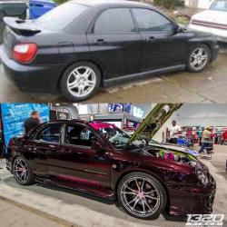 Before and after shot of 2002 Subaru Impreza WRX