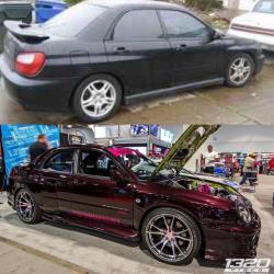 Before and after shot of 2002 Subaru Impreza WRX