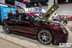 Side shot of 2002 WRX at SEMA 2016