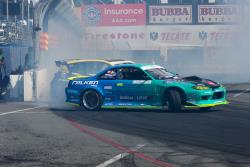 Matt Field with the new Falken tires livery on his Nissan 240SX