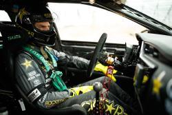 Fredric Aasbo prepares for battle in his Papadakis Racing built Toyota Corolla iM