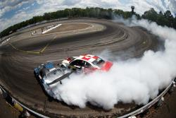 Kristaps Bluss chases down Dean Kearney in practice at Formula Drift New Jersey Photo by Larry Chen