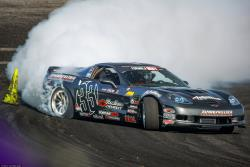 Dirk Stratton nears an outside clipping point in Formula Drift Pro 2 Photo by Valters Boze