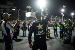 Fredric Aasbo celebrates his 10th career Formula Drift win in Montreal, most overall by any driver