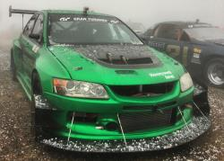 The Narvaez Racing Hulk EVO in a hail storm on Pikes Peak