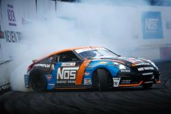 Chris Forsberg's twin-turbocharged 370z earned second place at Formula Drift Texas